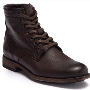 NWOB Frye Tyler Leather Lace Up Brown Boot